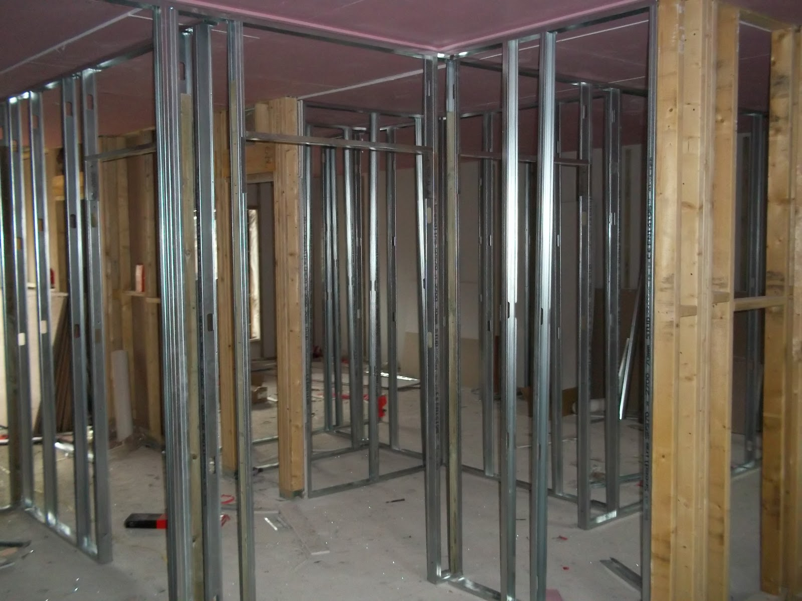 Metal Stud Partition Walls : Bray ceiling installtions ltd expert fitting of